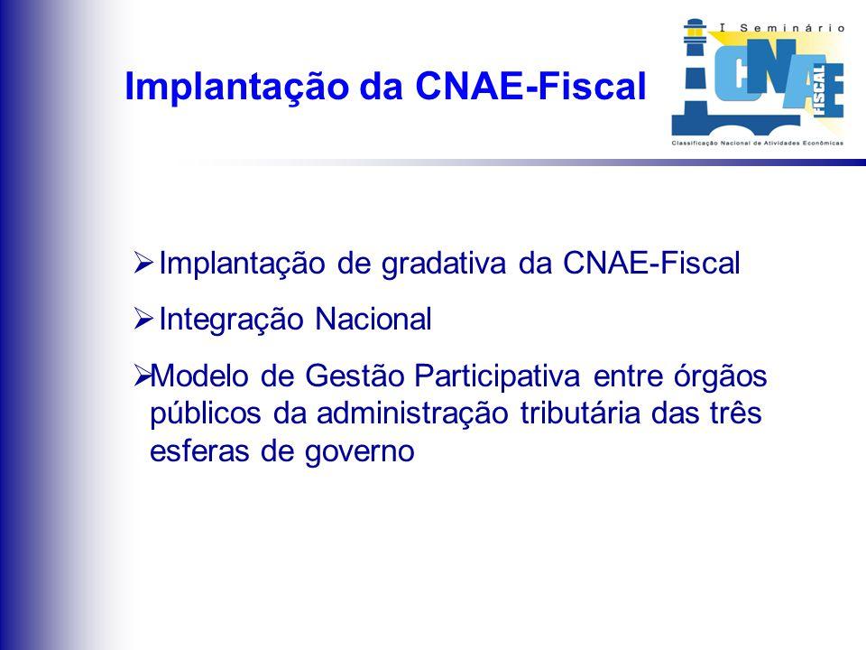 O cenário após a implantação da CNAE-Fiscal
