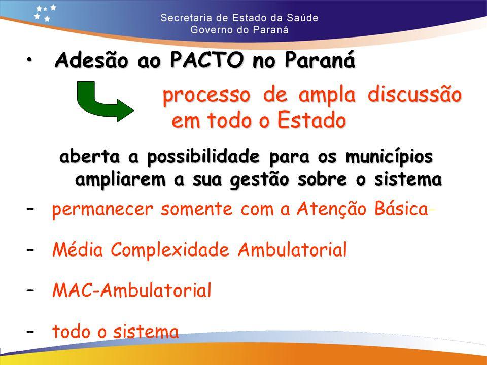Adesão ao PACTO no Paraná processo de ampla discussão em todo o Estado