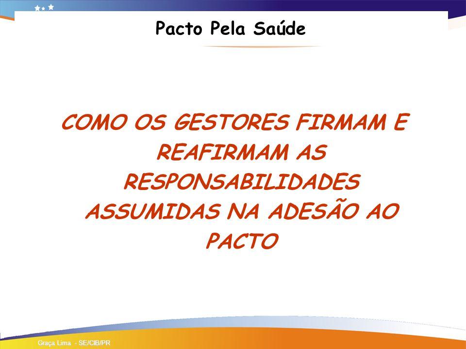 Pacto Pela Saúde COMO OS GESTORES FIRMAM E REAFIRMAM AS RESPONSABILIDADES ASSUMIDAS NA ADESÃO AO PACTO.