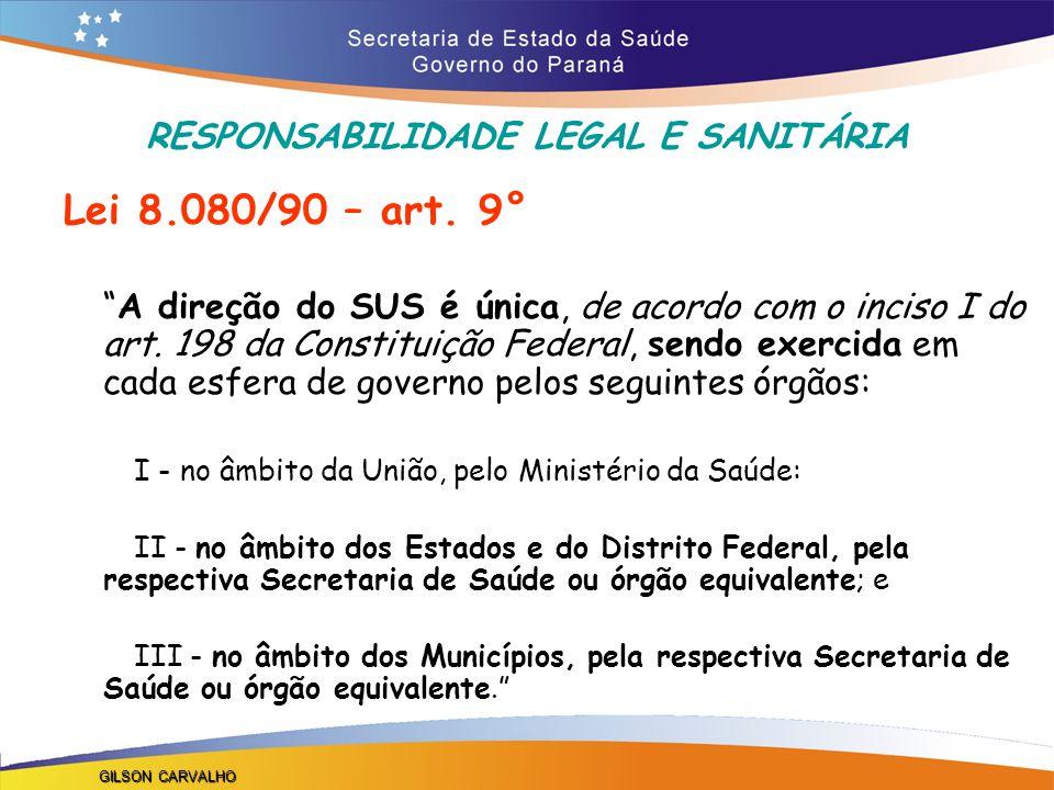 RESPONSABILIDADE LEGAL E SANITÁRIA