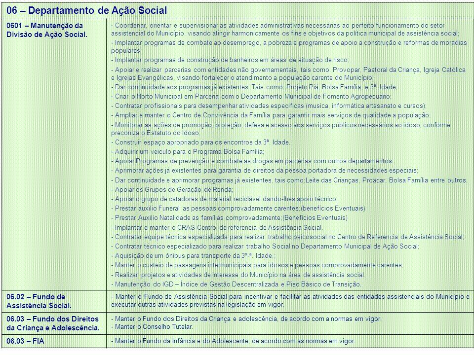 06 – Departamento de Ação Social