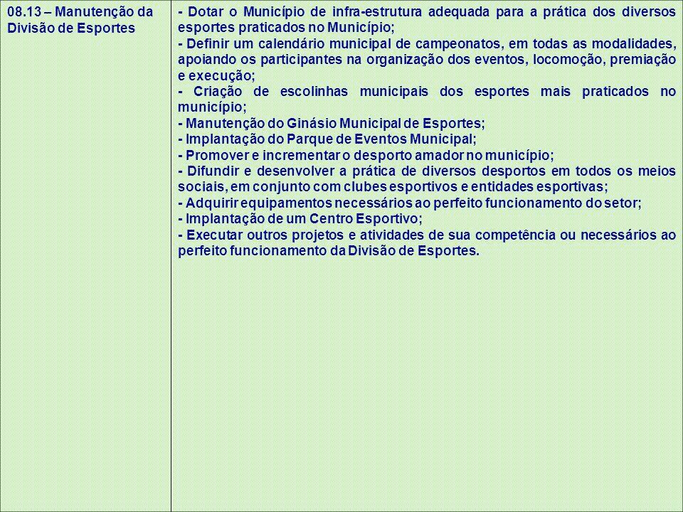 08.13 – Manutenção da Divisão de Esportes