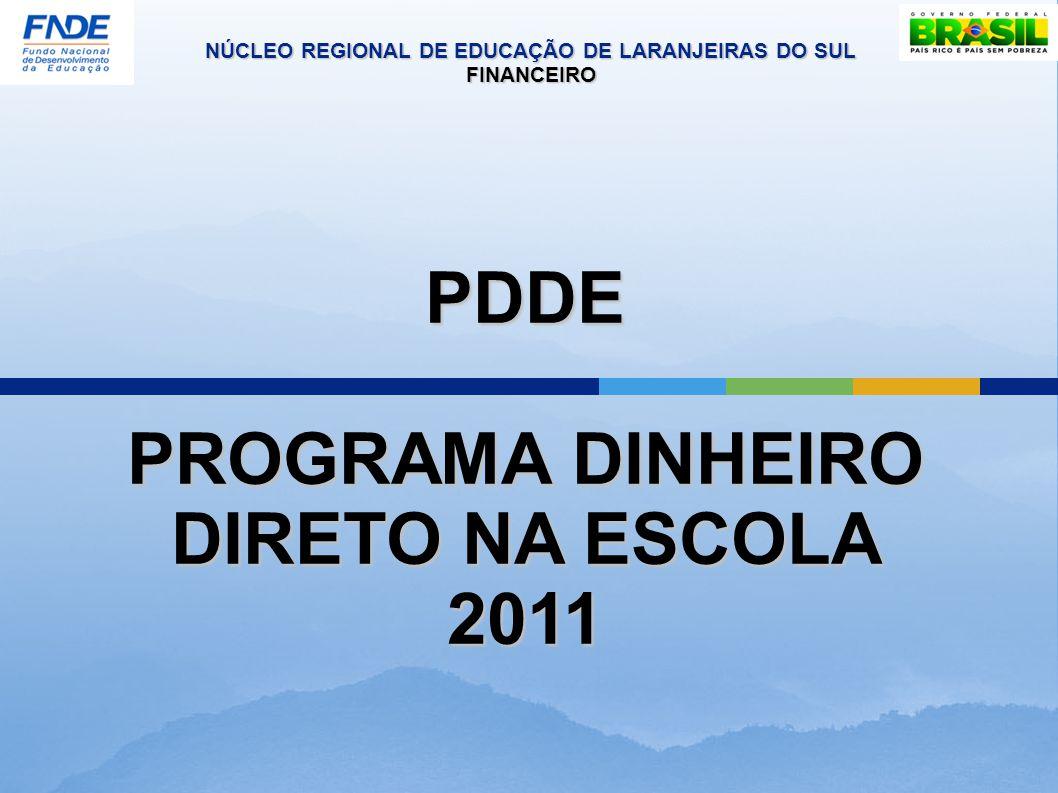 PDDE PROGRAMA DINHEIRO DIRETO NA ESCOLA 2011