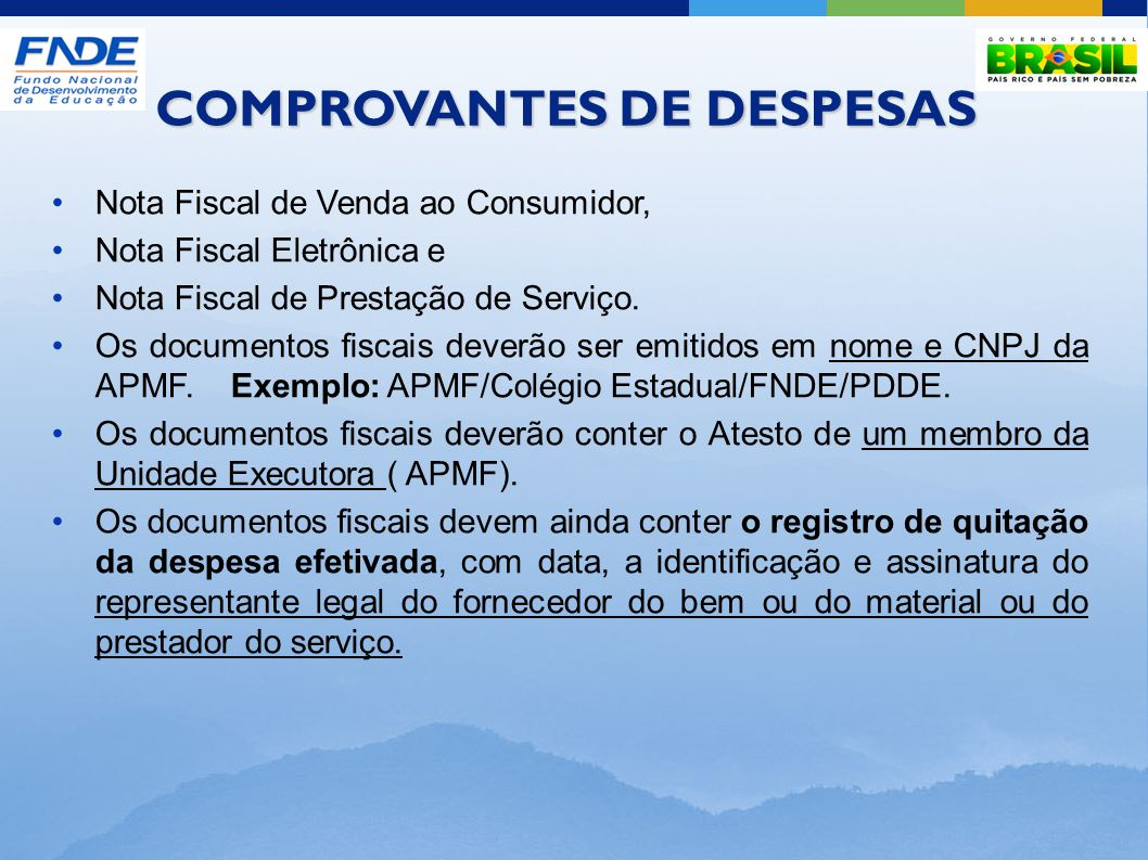 COMPROVANTES DE DESPESAS