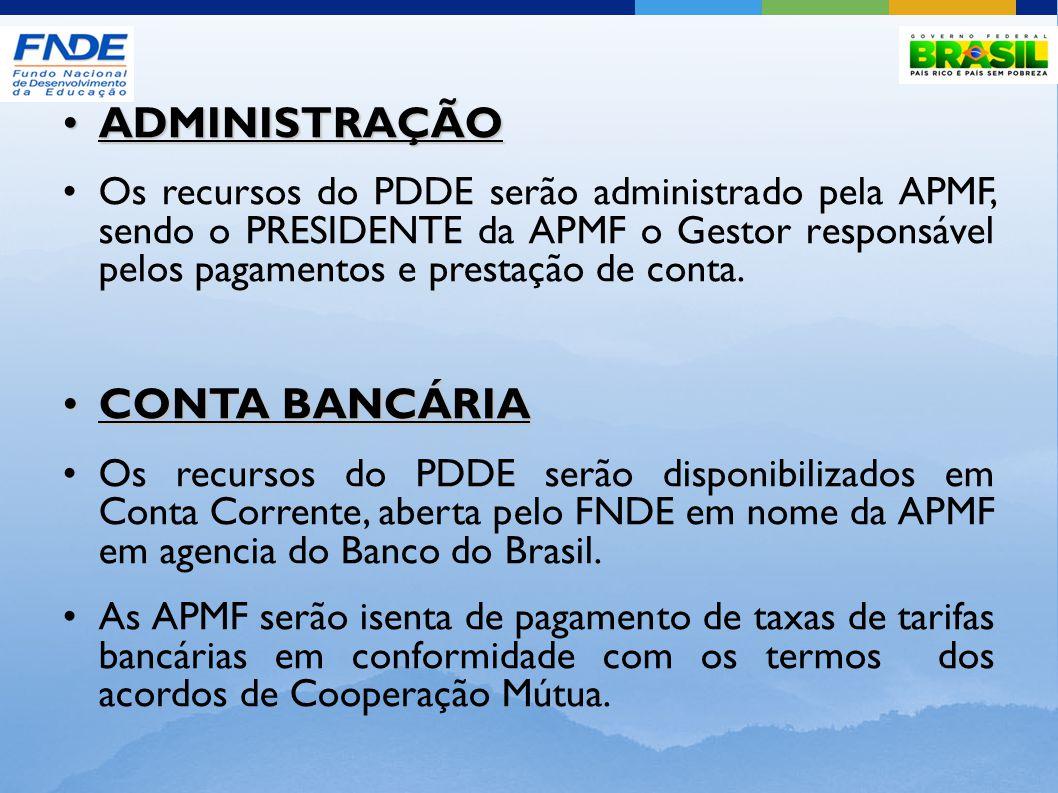 ADMINISTRAÇÃO CONTA BANCÁRIA