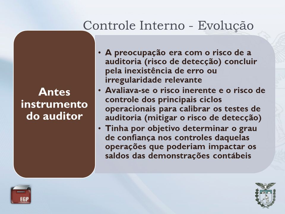 Controle Interno - Evolução