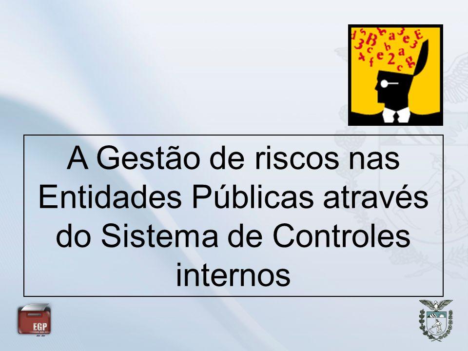 A Gestão de riscos nas Entidades Públicas através do Sistema de Controles internos