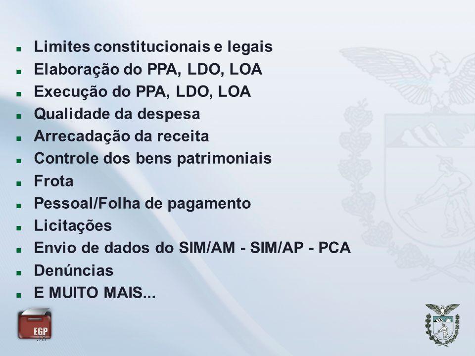 Limites constitucionais e legais