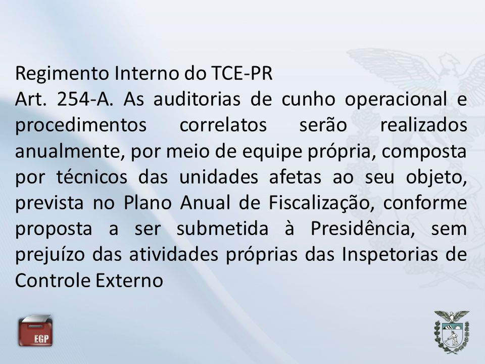 Regimento Interno do TCE-PR