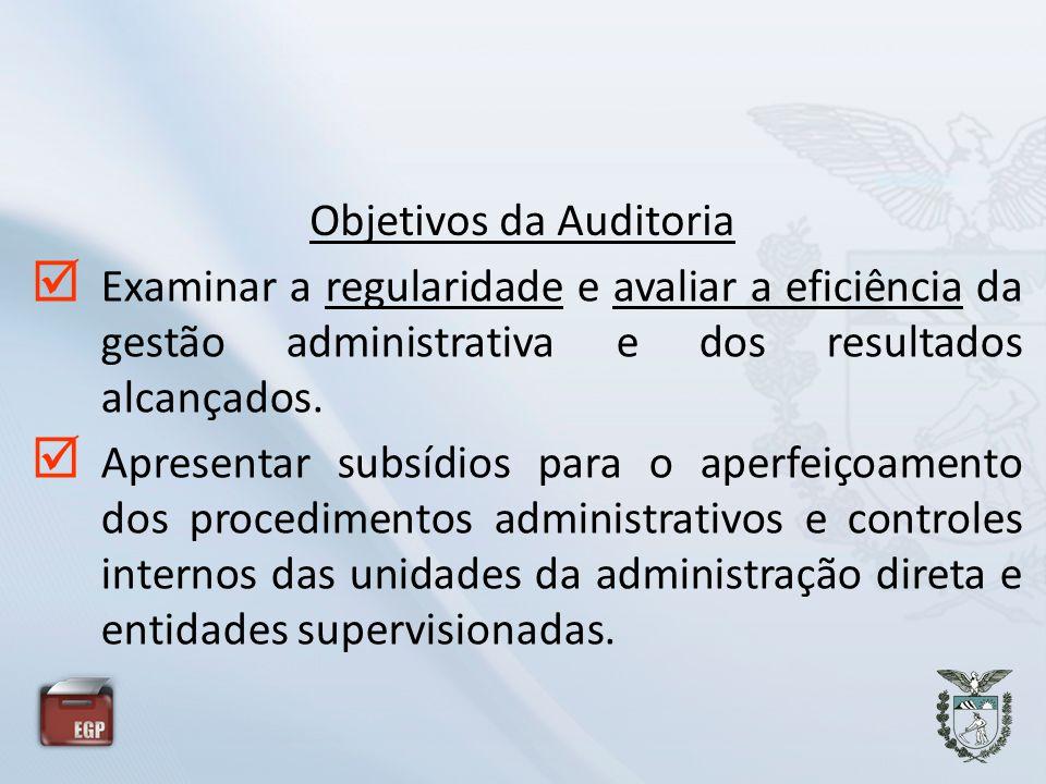 Objetivos da Auditoria