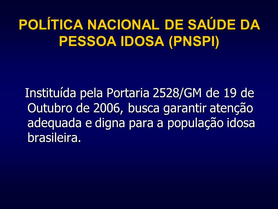 POLÍTICA NACIONAL DE SAÚDE DA PESSOA IDOSA (PNSPI)