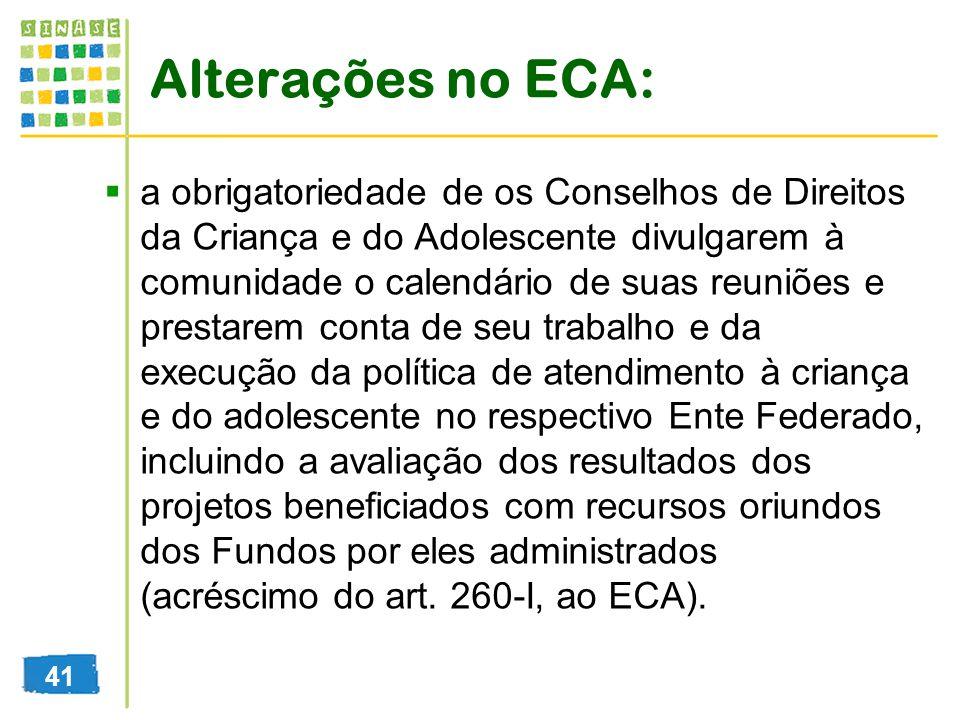 Alterações no ECA: