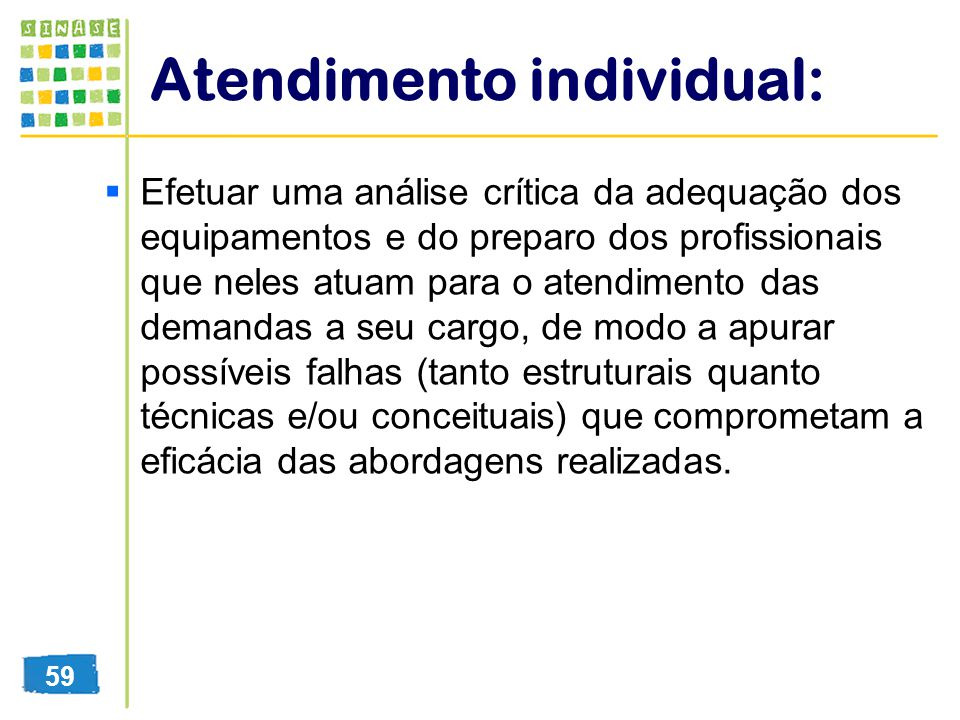 Atendimento individual: