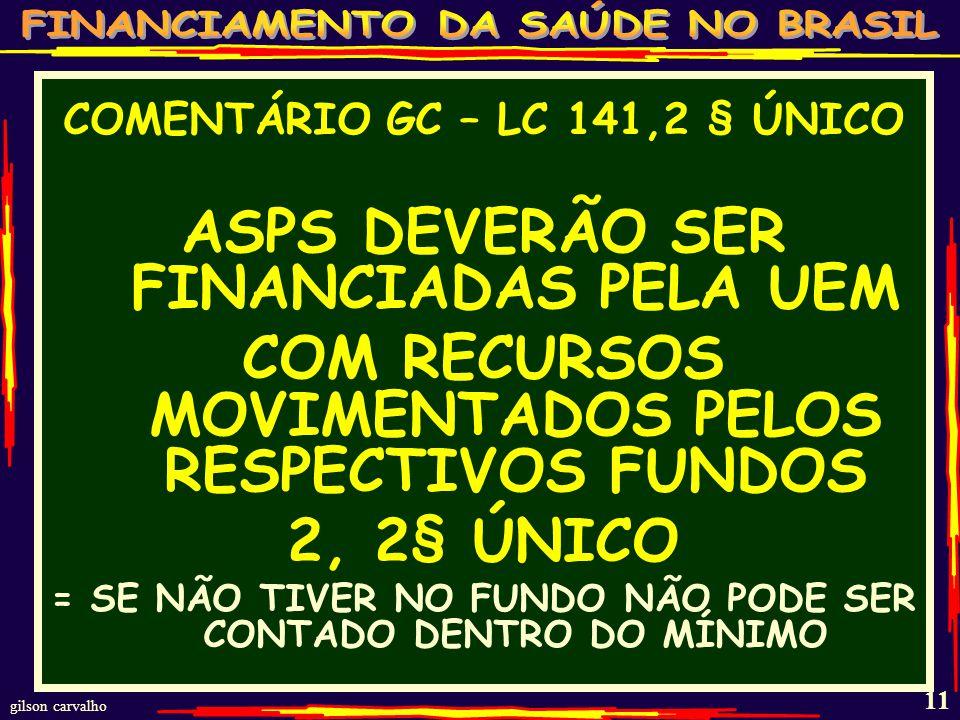 ASPS DEVERÃO SER FINANCIADAS PELA UEM