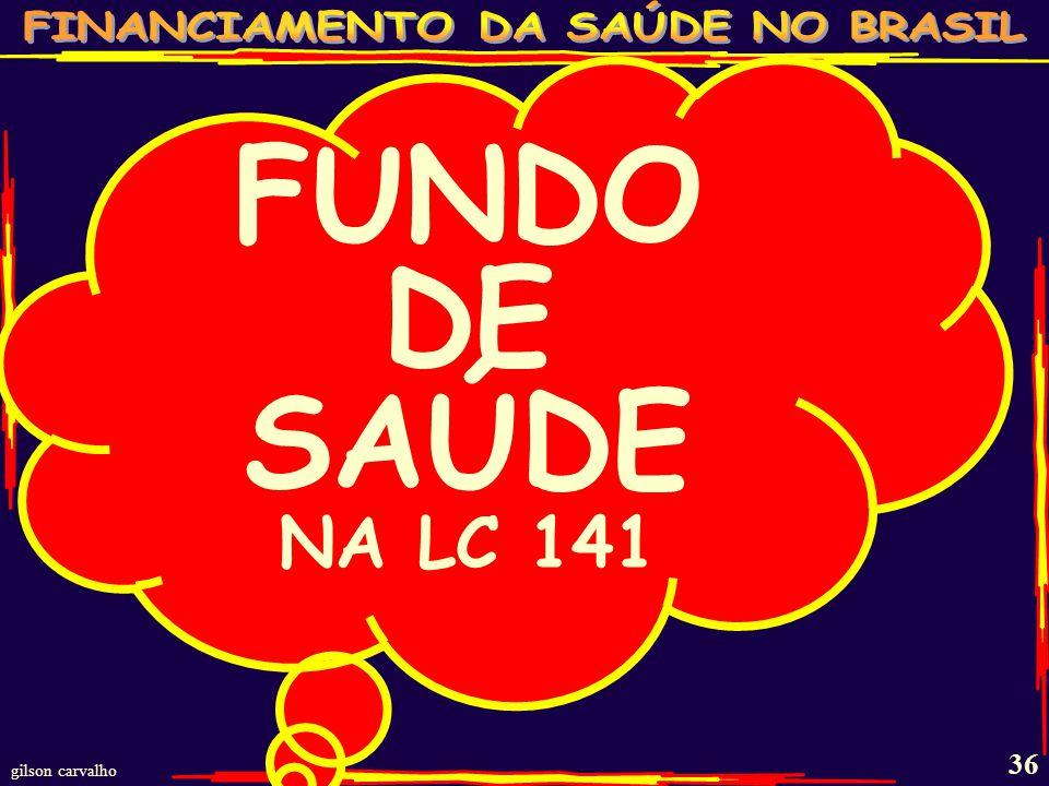 FUNDO DE SAÚDE NA LC 141