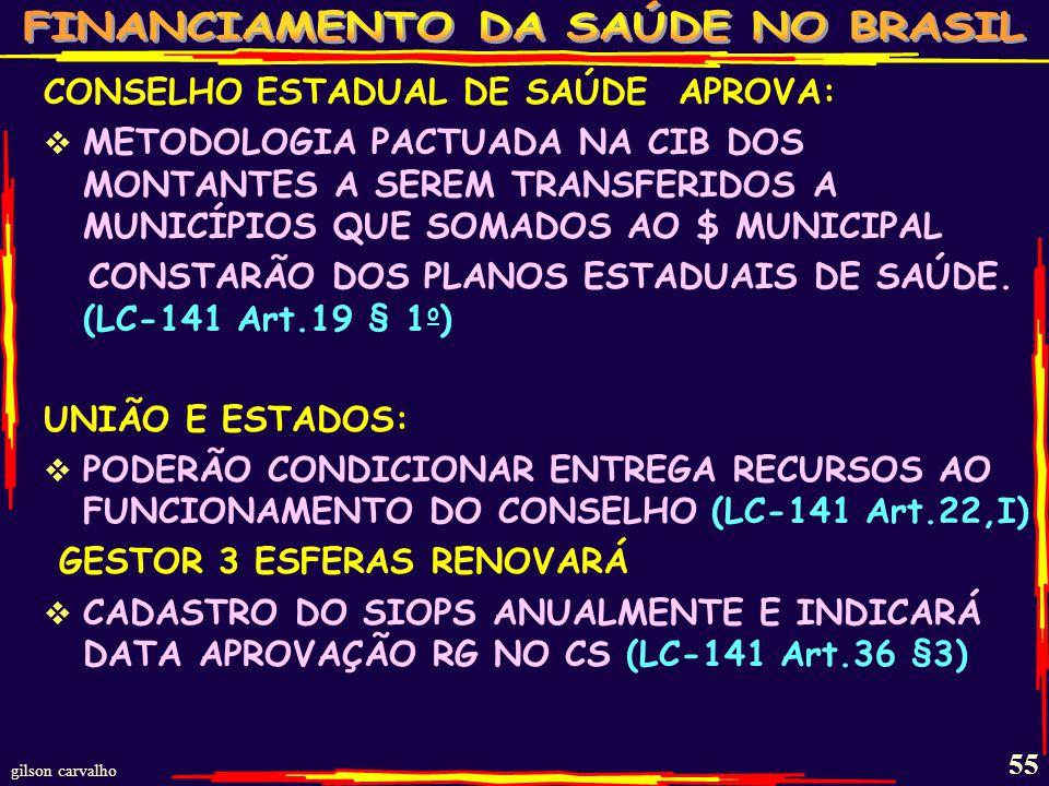CONSELHO ESTADUAL DE SAÚDE APROVA: