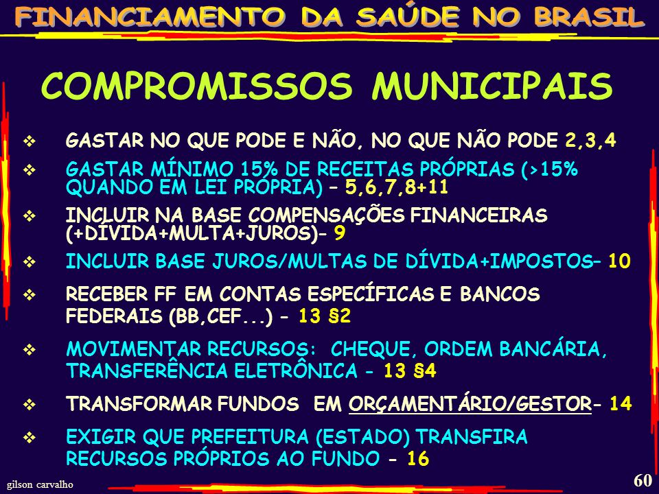 COMPROMISSOS MUNICIPAIS