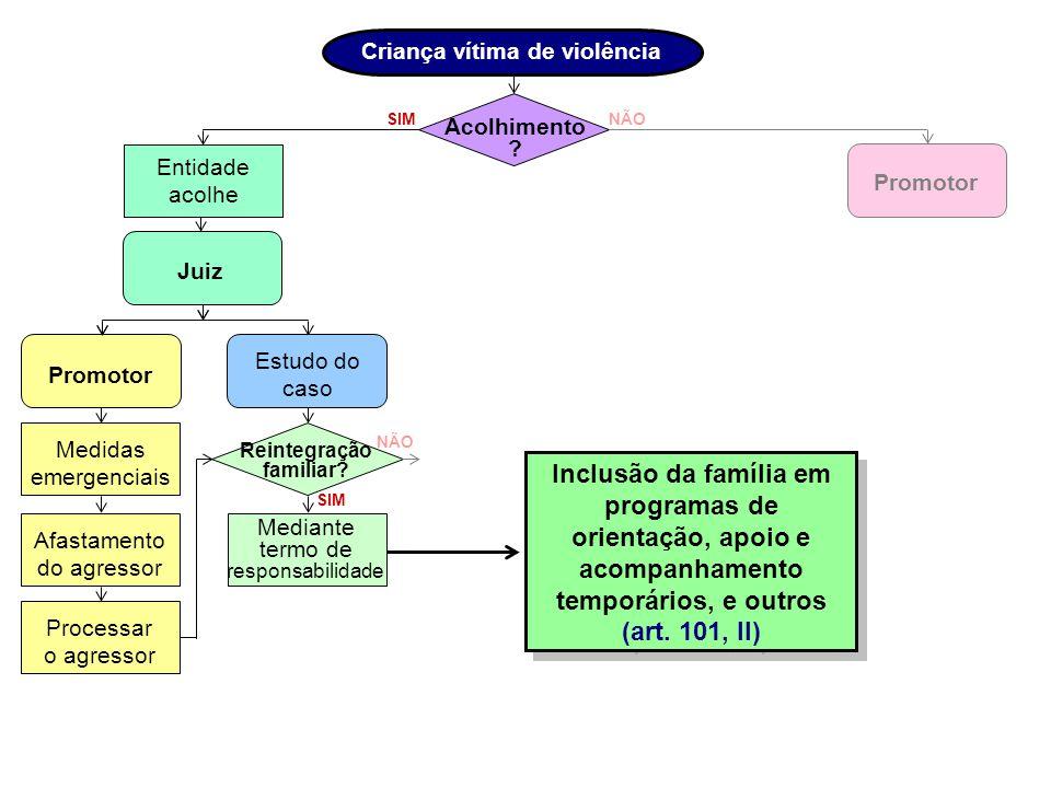 Criança vítima de violência Reintegração familiar