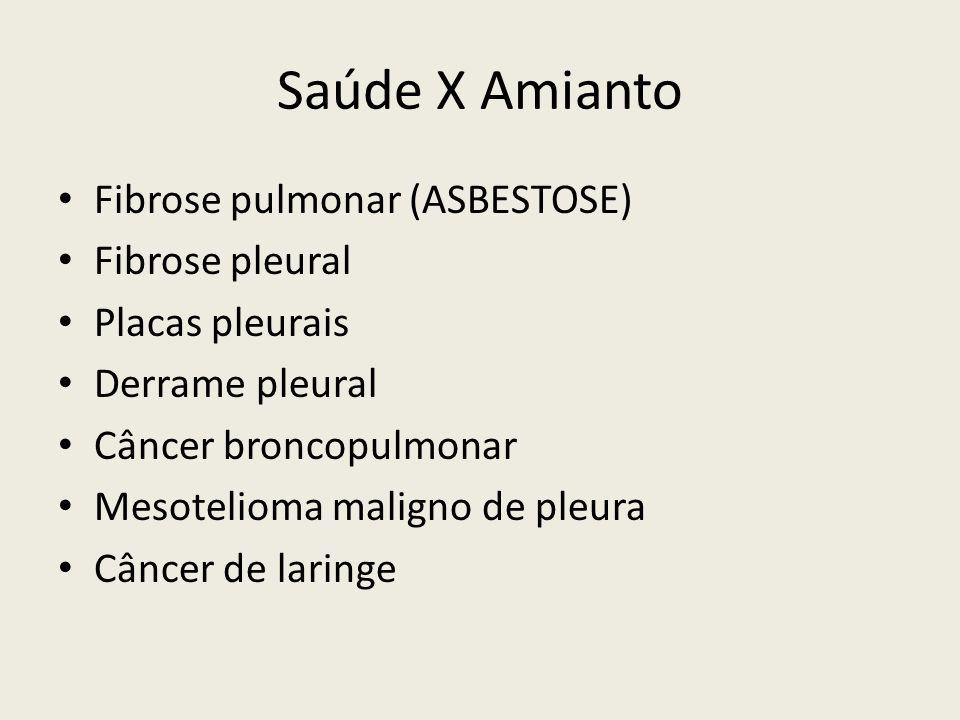 Saúde X Amianto Fibrose pulmonar (ASBESTOSE) Fibrose pleural
