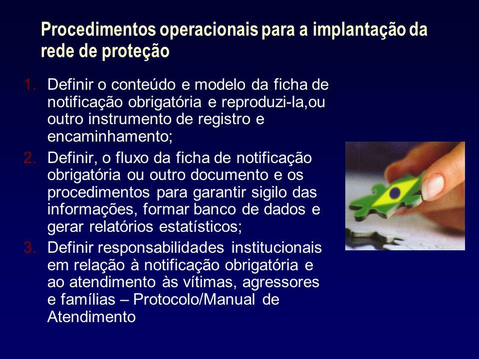Procedimentos operacionais para a implantação da rede de proteção