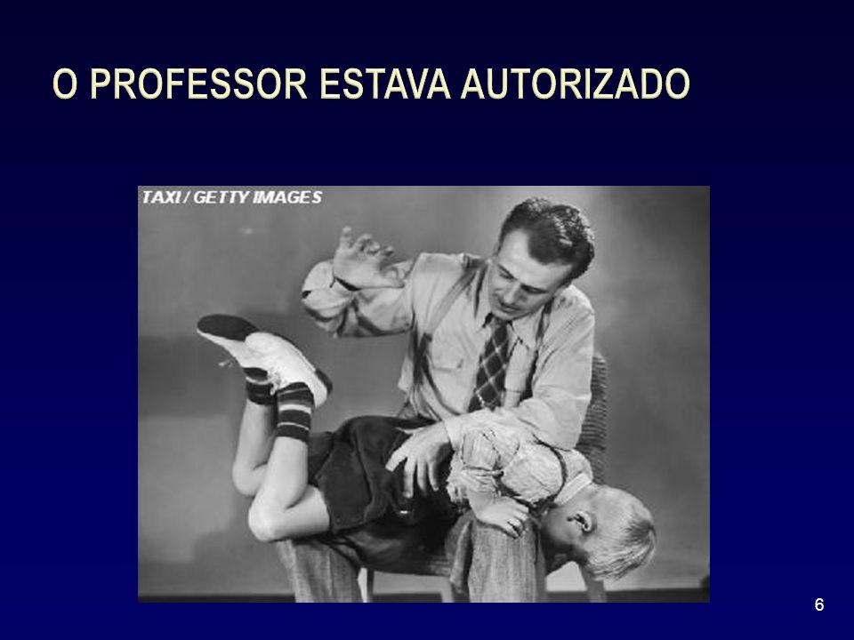 O PROFESSOR ESTAVA AUTORIZADO