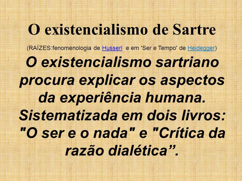 O existencialismo de Sartre