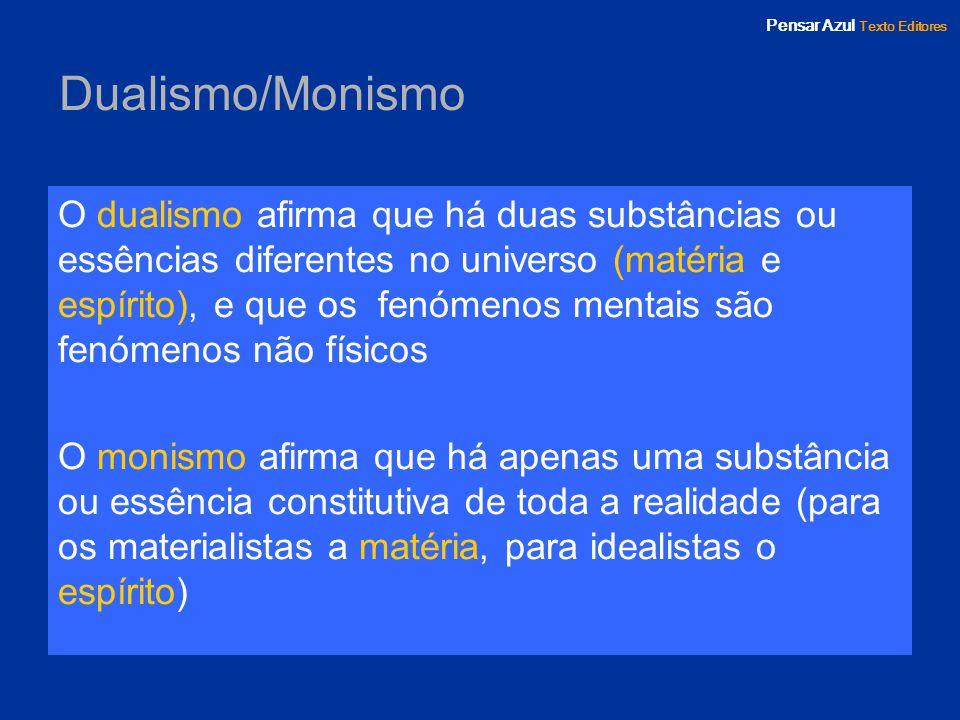 Dualismo/Monismo
