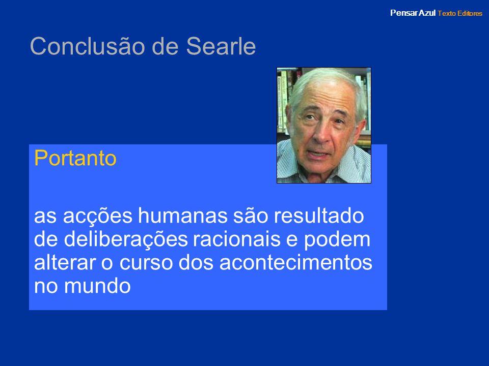 Conclusão de Searle Portanto