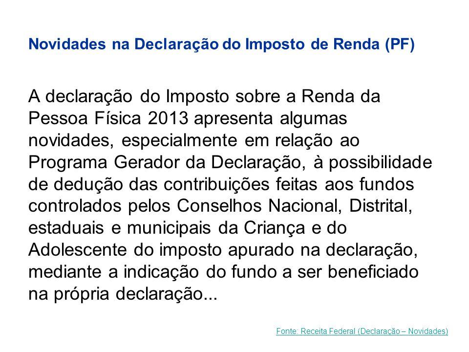 Novidades na Declaração do Imposto de Renda (PF)