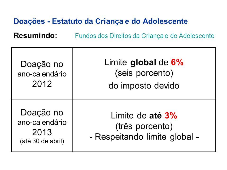 Doações - Estatuto da Criança e do Adolescente