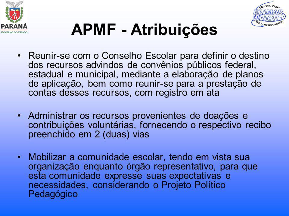 APMF - Atribuições