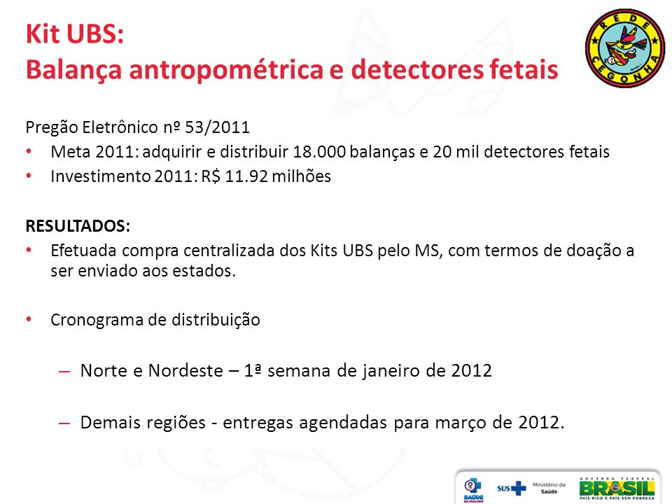 Kit UBS: Balança antropométrica e detectores fetais