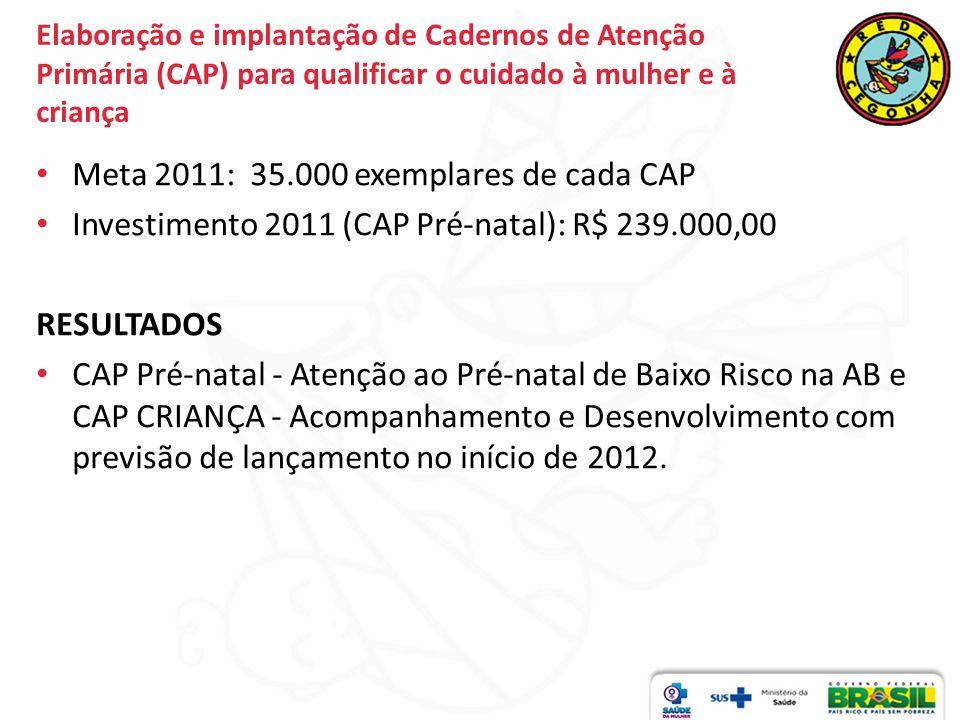 Meta 2011: 35.000 exemplares de cada CAP