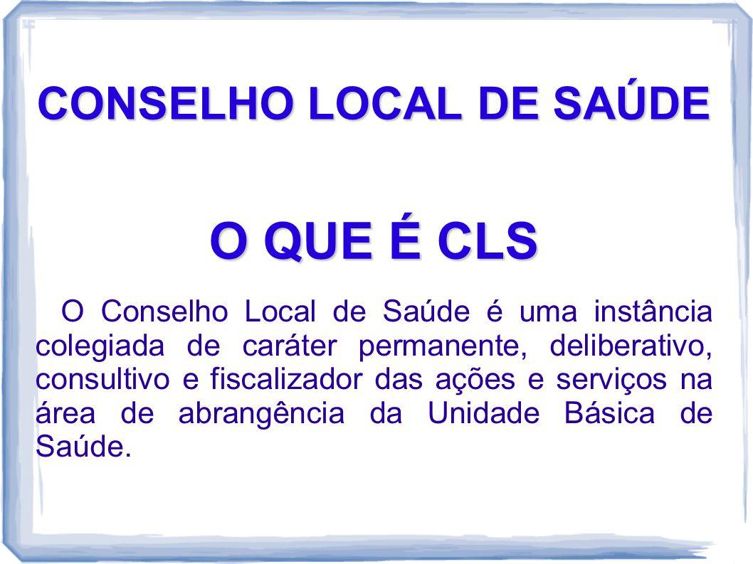CONSELHO LOCAL DE SAÚDE