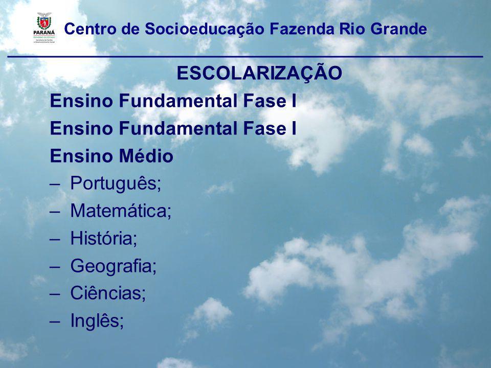 Ensino Fundamental Fase I Ensino Médio Português; Matemática;