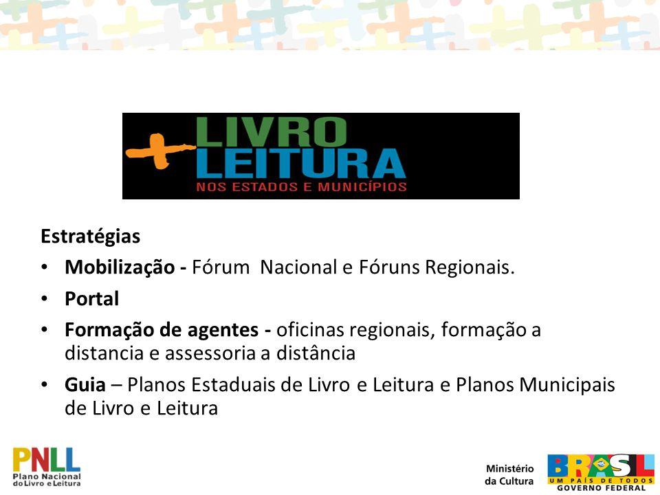 Estratégias Mobilização - Fórum Nacional e Fóruns Regionais. Portal.