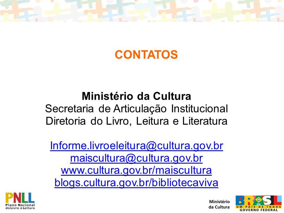 CONTATOS Ministério da Cultura Secretaria de Articulação Institucional