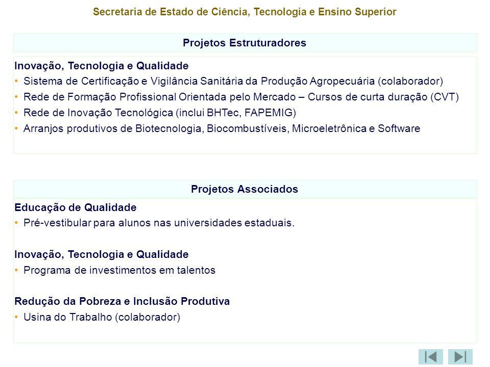 Projetos Estruturadores Projetos Associados