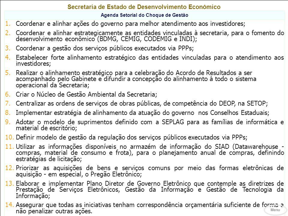 Coordenar a gestão dos serviços públicos executados via PPPs;