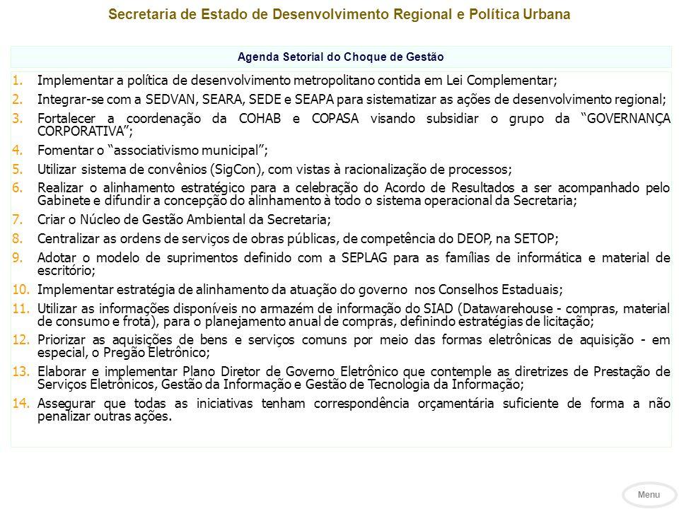 Secretaria de Estado de Desenvolvimento Regional e Política Urbana