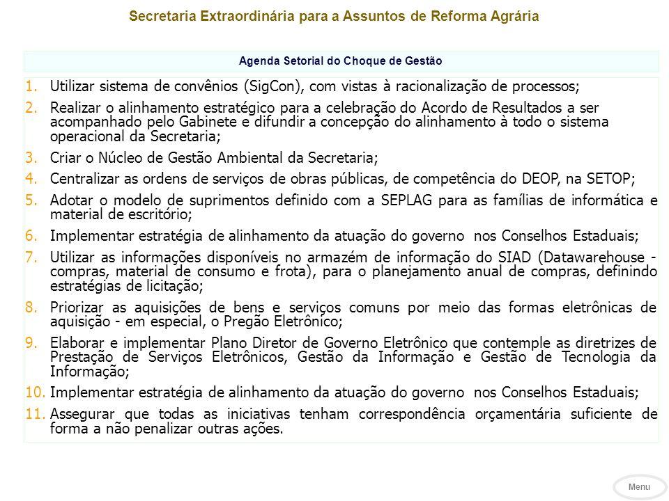 Criar o Núcleo de Gestão Ambiental da Secretaria;