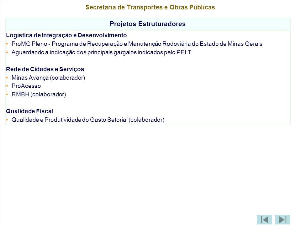 Secretaria de Transportes e Obras Públicas Projetos Estruturadores