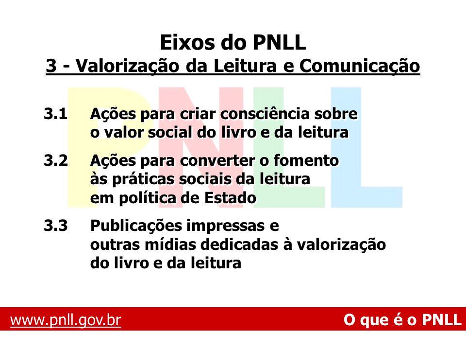 3 - Valorização da Leitura e Comunicação