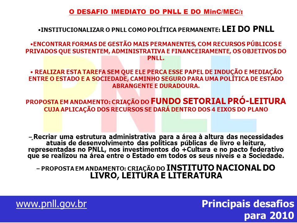 www.pnll.gov.br Principais desafios para 2010