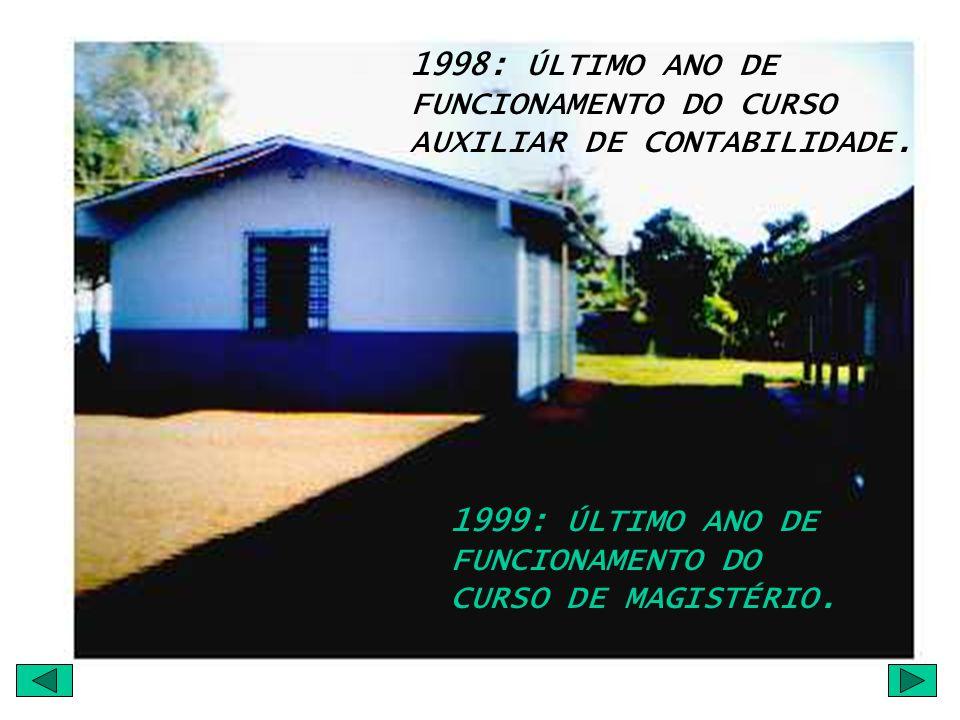 1998: ÚLTIMO ANO DE FUNCIONAMENTO DO CURSO AUXILIAR DE CONTABILIDADE.