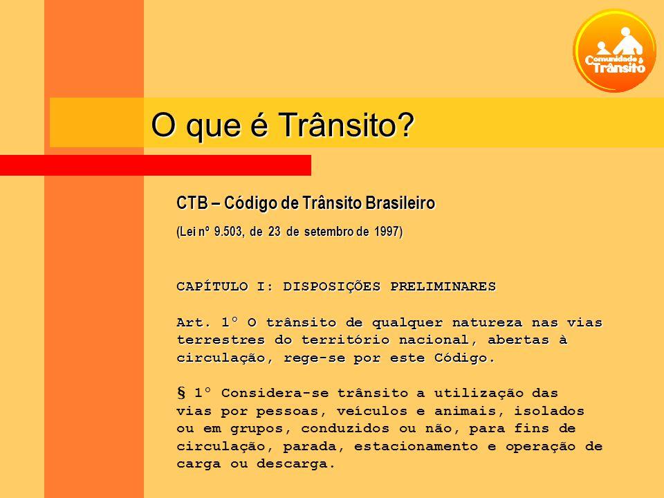 O que é Trânsito CTB – Código de Trânsito Brasileiro