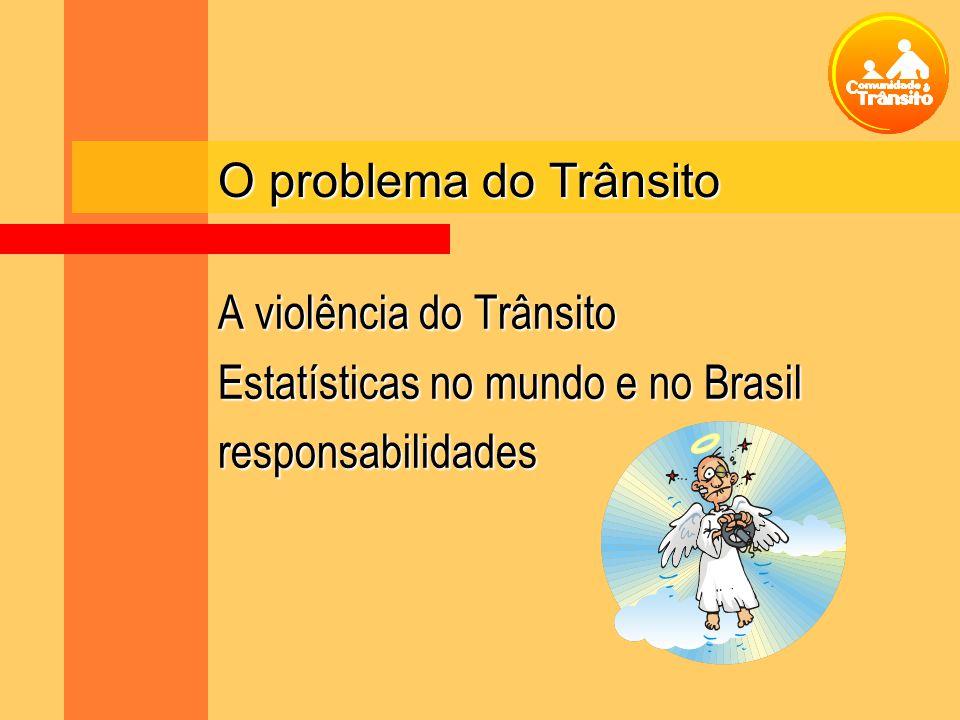O problema do Trânsito A violência do Trânsito Estatísticas no mundo e no Brasil responsabilidades