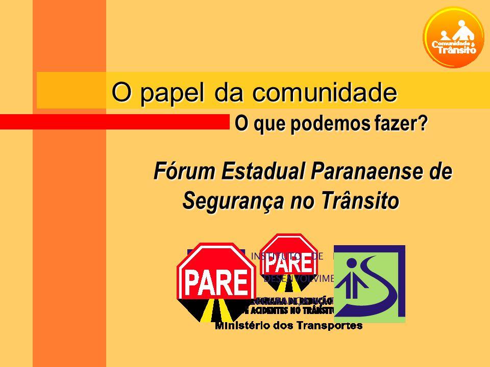 Fórum Estadual Paranaense de Segurança no Trânsito