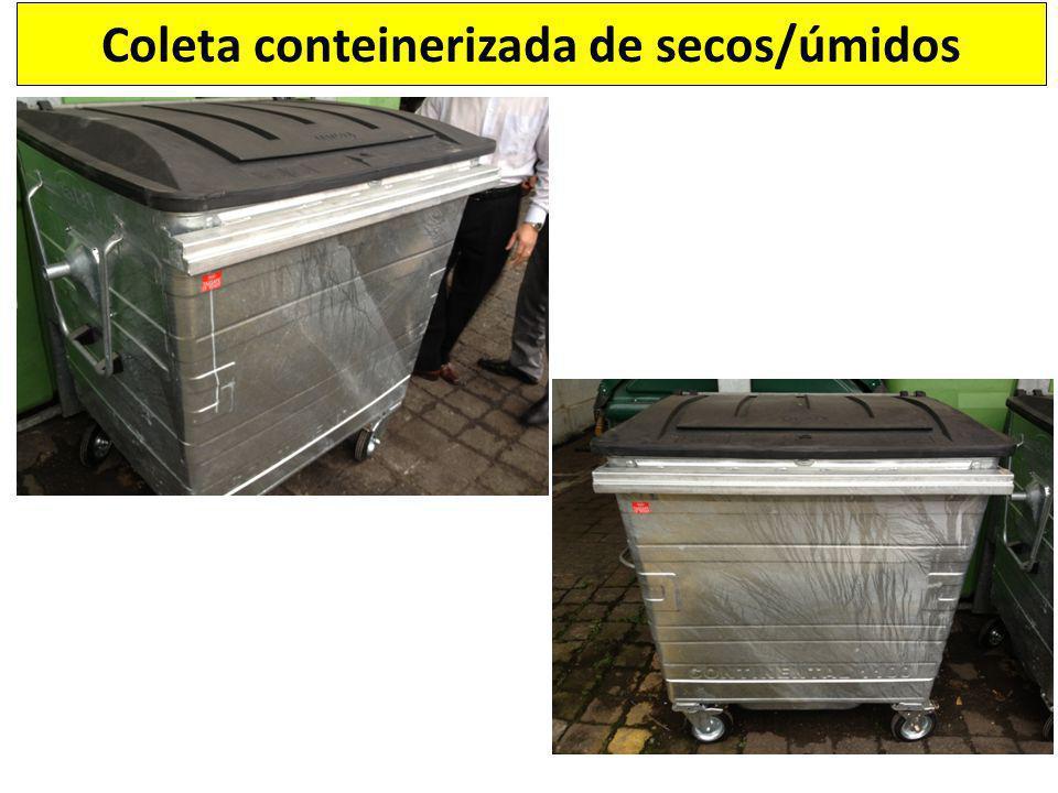 Coleta conteinerizada de secos/úmidos