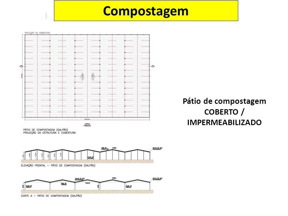 Pátio de compostagem COBERTO / IMPERMEABILIZADO